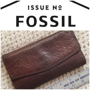 FOSSIL vintage genuine leather wallet